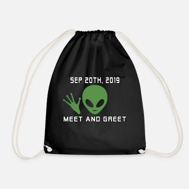 Area Funny Alien 51 Memes Meet And Greet - Drawstring Bag