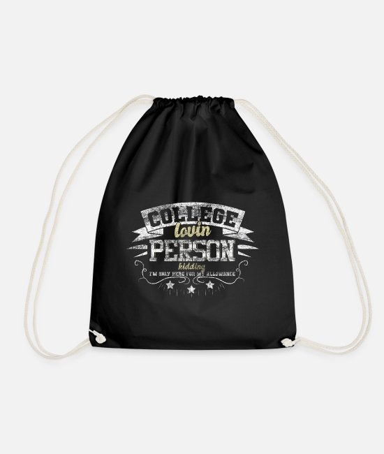 Professor Bags & Backpacks - College University - Drawstring Bag black