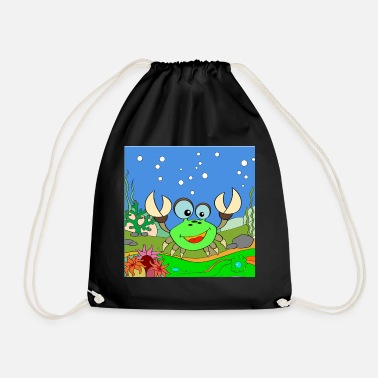 Laughing crab - Drawstring Bag