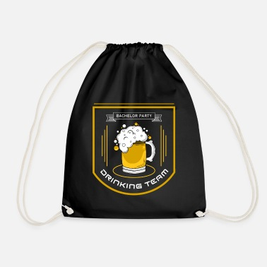 Party Drinking team bachelor party - Drawstring Bag
