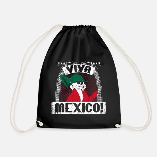 Gift Idea Bags & Backpacks - Viva Mexico gift - Drawstring Bag black