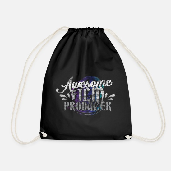 Gift Idea Bags & Backpacks - Film producer gift idea - Drawstring Bag black