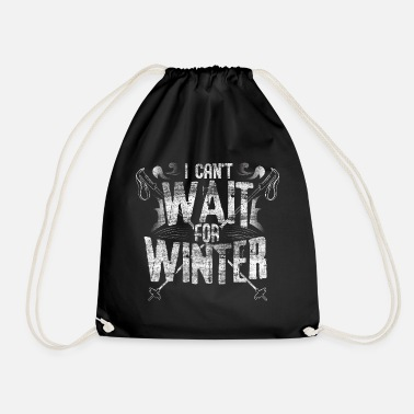 Skiing Ski steep slope winter - Drawstring Bag