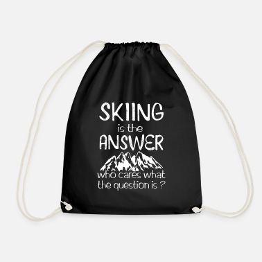 Deep Snow Skiing is the answer - Drawstring Bag