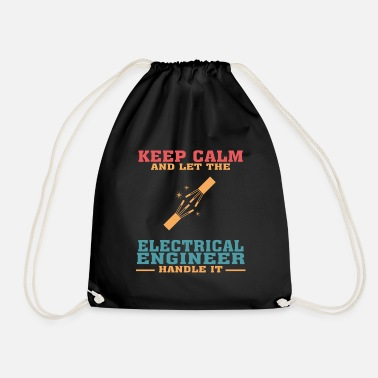 Mechanic Funny Electrical Engineer Tshirt, Keep Calm - Drawstring Bag