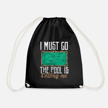 Cue Sports Billiard cue sport gift idea - Drawstring Bag