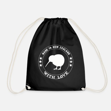 Kiwi Made in New Zealand with Love - Drawstring Bag