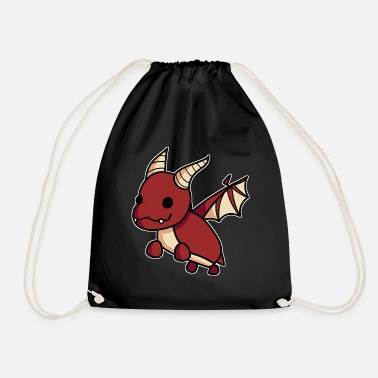 Roblox Red Dragon Pet Cute Hand Drawn Gaming Gift - Gymtas