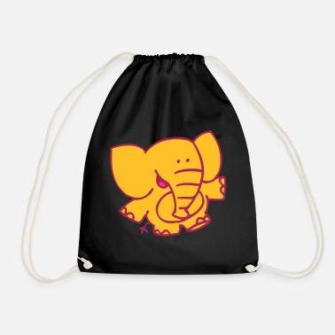 Little Elephant by Cheerful Madness!! - Drawstring Bag