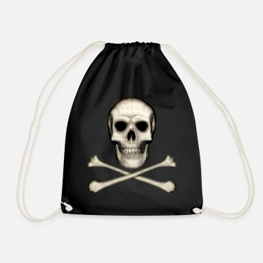 Skull And Crossbones Skull and Crossbones - Drawstring Bag