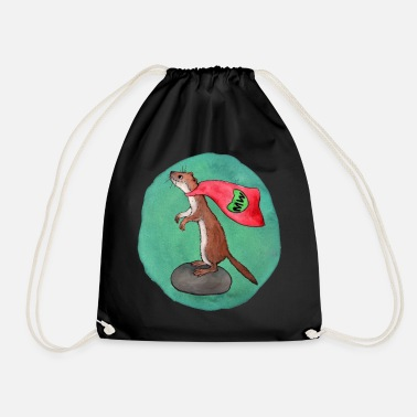 Mouse Weasel Superhero - Drawstring Bag