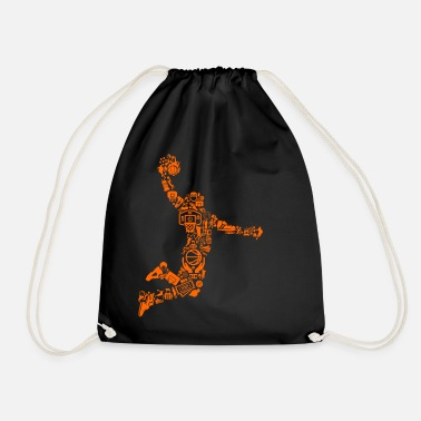 Basketball Player Basketball - Basketballer Mosaic - Player - Drawstring Bag