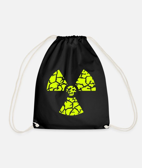 Pile Bags & Backpacks - against nuclear power - Drawstring Bag black