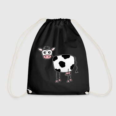 Funny cow with udder - Drawstring Bag