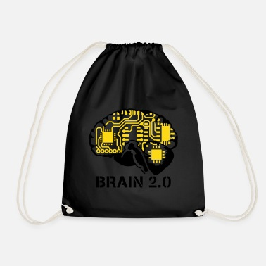 Geek brain 2.0 - Drawstring Bag