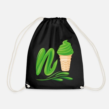 Plutonium N'ice Ice Cream Emoji with a N. Green Soft Ice - Drawstring Bag