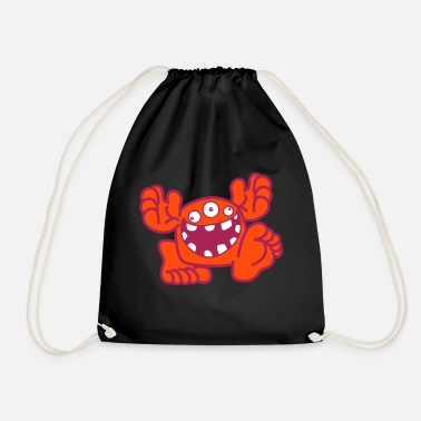 Proud To Be A Monster Cartoon by Cheerful Madness! - Drawstring Bag