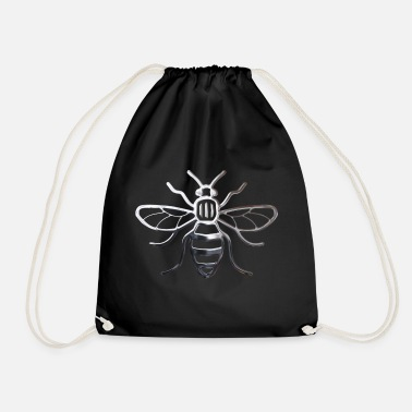 Bee Manchester Bee - Chrome Effect - Drawstring Bag