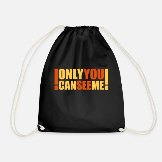 Heaven Bags & Backpacks - only you can see me - Drawstring Bag black