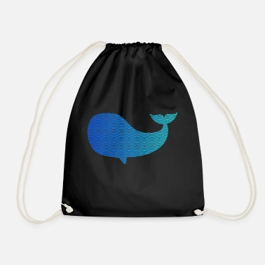 Wale wale from waves and sea - Drawstring Bag