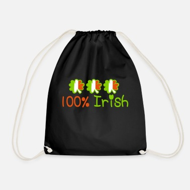 Keep Calm Underwear ♥ټ☘Kiss Me I'm 100% Irish-Irish Rule☘ټ♥ - Drawstring Bag