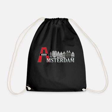 Large Amsterdam with a large A - Drawstring Bag