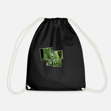 Picture with drops in 4 parts - Drawstring Bag