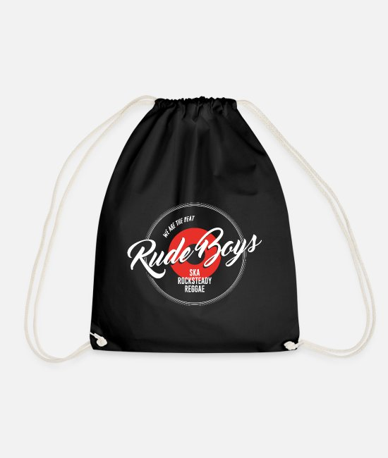 Rasta Bags & Backpacks - Wall mural Rude Boys> Ska | Reggae | Rocksteady - Drawstring Bag black