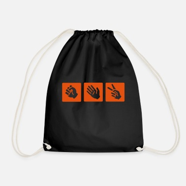 Game Rock-paper-scissors - Drawstring Bag