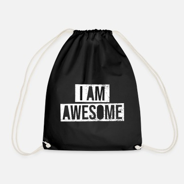 I Am Awesome I am Awesome - vintage white - Sacca sportiva