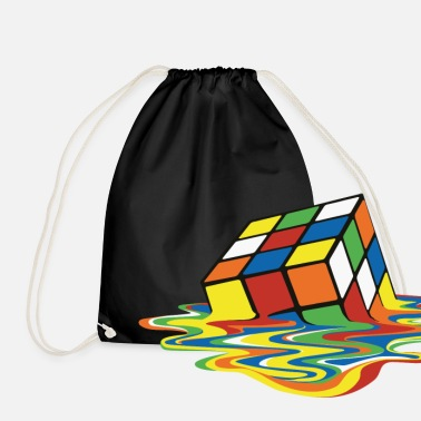 Rubik's Cube Melted Colourful Puddle - Sacca sportiva