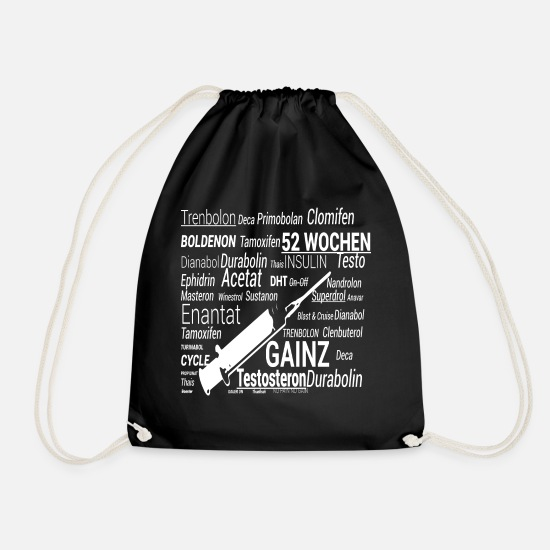 Steroids Bags & Backpacks - No power to the steroids - Drawstring Bag black