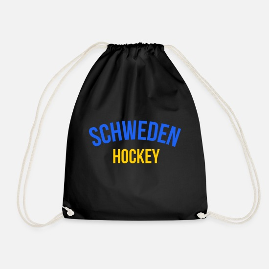 Winter Sports Bags & Backpacks - Ice Hockey Sport Sweden Fan Winter Games Blond - Drawstring Bag black