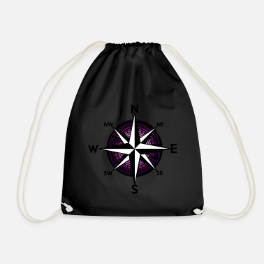 Nautical Ahoy Nautical Compass Windrose Nautical - Drawstring Bag