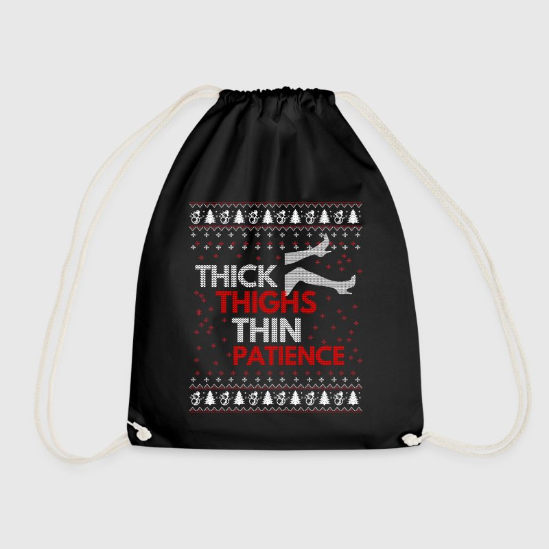 Thick Thighs Thin Patience Ugly Christmas Sweater - Sac de sport léger