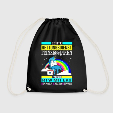 Rescue Princess Unicorn gift - Drawstring Bag