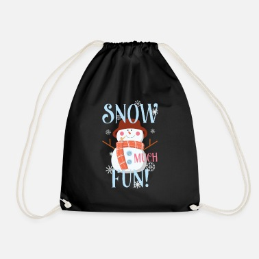 Teen Snow Much Fun Snowman Christmas Snowflakes - Gymtas