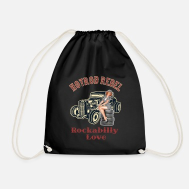 Rockabilly Hot Rod Rebel Rockabilly Love - Sac à dos cordon