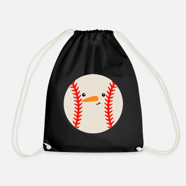 Snowball Baseball Snowball Gift Winter Snowball - Drawstring Bag