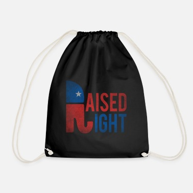 Republicans Raised Right Vintage Republican - Drawstring Bag