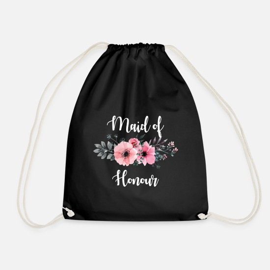 Bestsellers Q4 2018 Bags & Backpacks - Maid of Honour.Bridesmaids Gifts.Hen/ Bachelorette - Drawstring Bag black