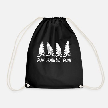 Forest Forest Forest Run Run joke - Drawstring Bag