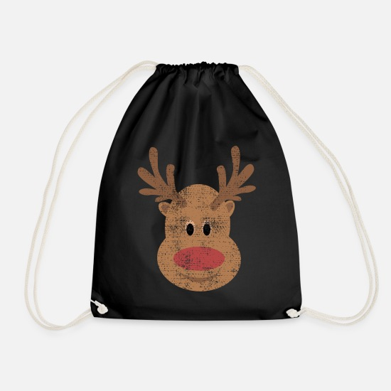 Pastries Bags & Backpacks - reindeer - Drawstring Bag black