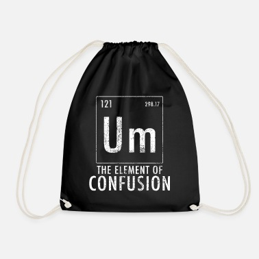 Confused To confusion element of confusion - Drawstring Bag