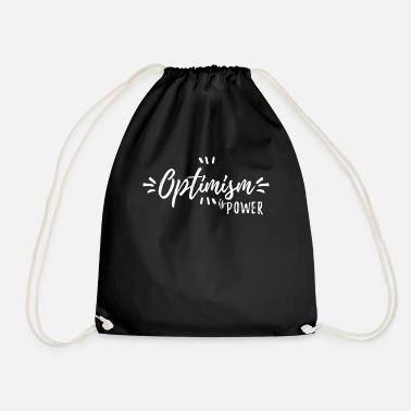 Optimism optimism - Drawstring Bag