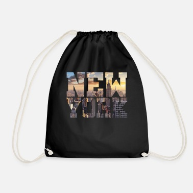 New York New York New York - Drawstring Bag