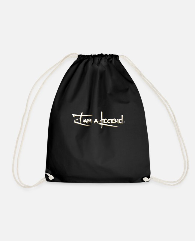Legend Bags & Backpacks - Legend White - Drawstring Bag black