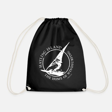 windsurfer white - Drawstring Bag