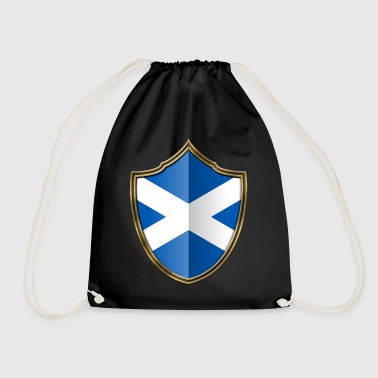 Scottish Scotland Flag Coat of Arms Gold 016 - Drawstring Bag