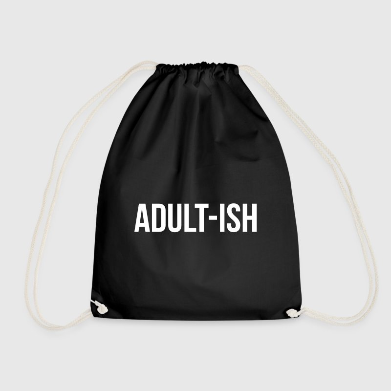 Adult-ish Funny Quote - Drawstring Bag